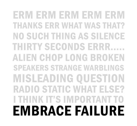 Embrace Failure back cover