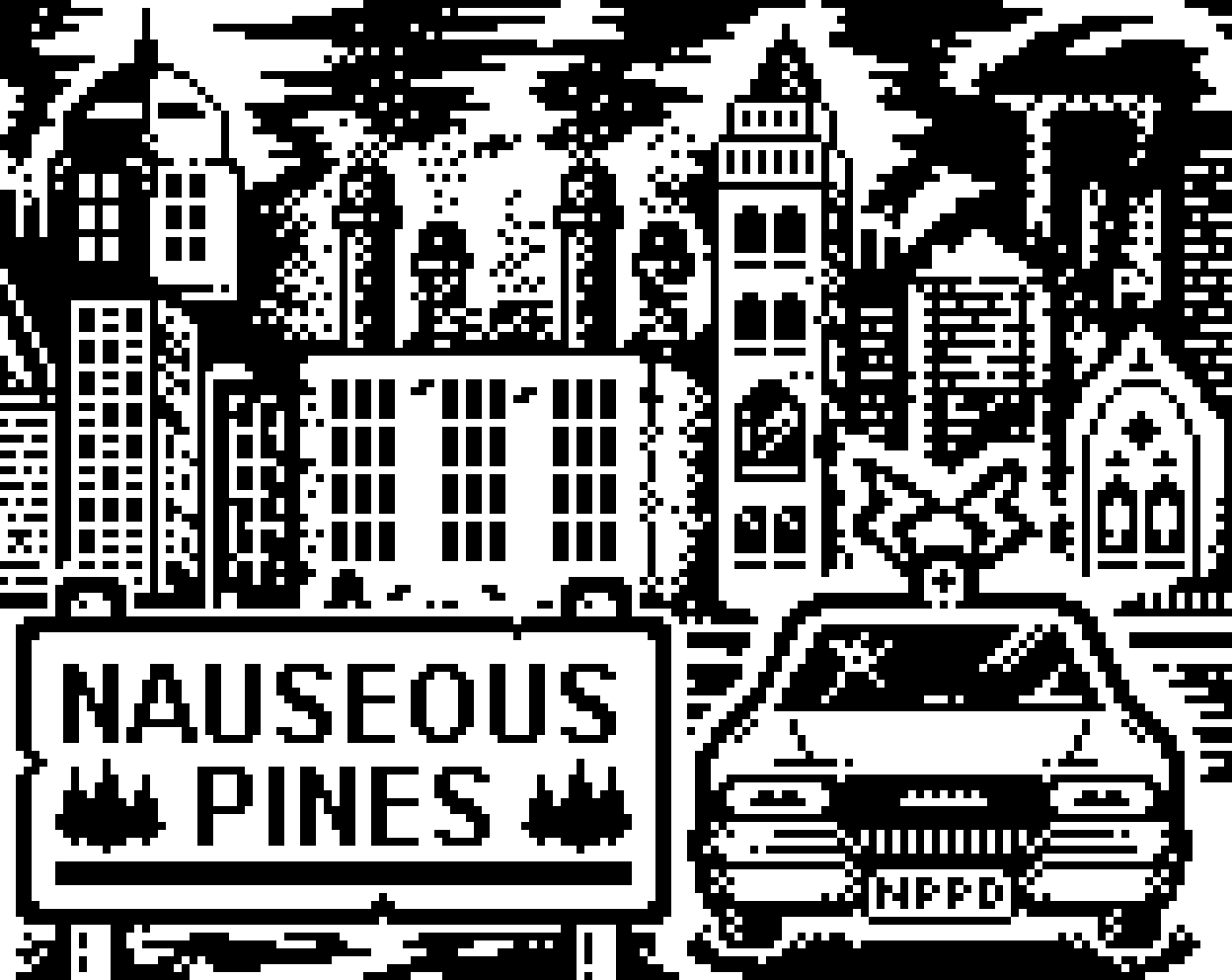 Pixel artwork // Nauseous Pines