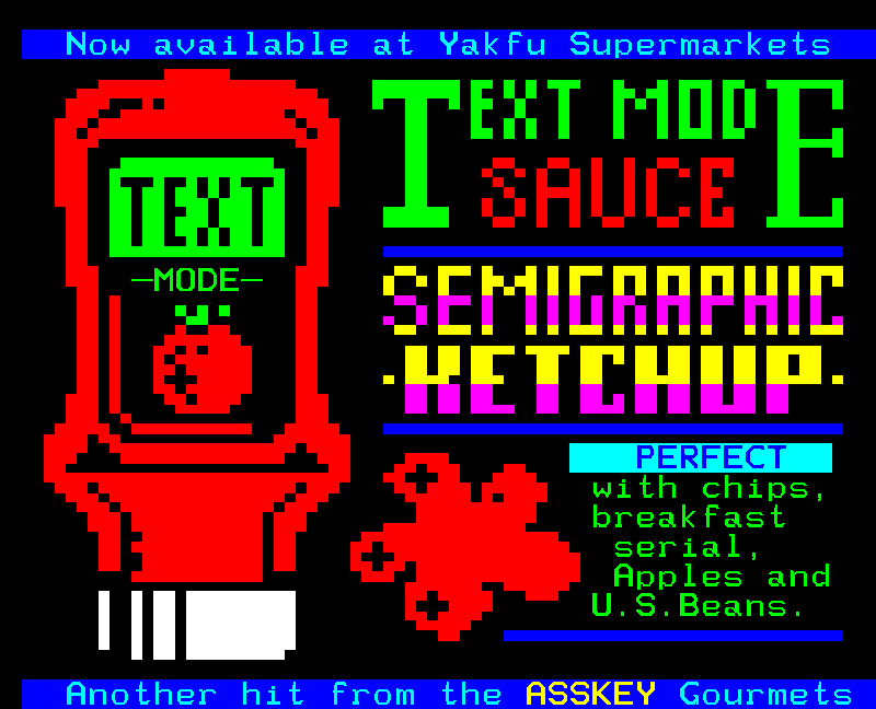 Text Mode ketchup