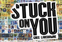 Book cover // Stuck On You // Football Sticker Mosaic