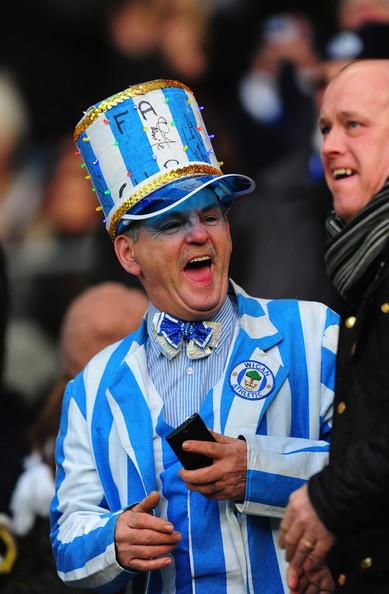 Mr Wigan in full attire.