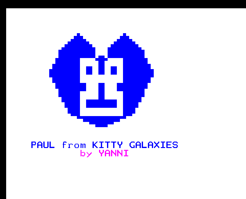 Paul Kitty Galaxies // Superbyte teletext art 2015