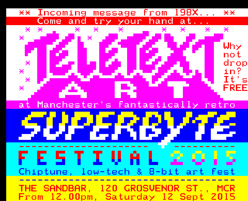 Superbyte promo // Superbyte teletext art 2015