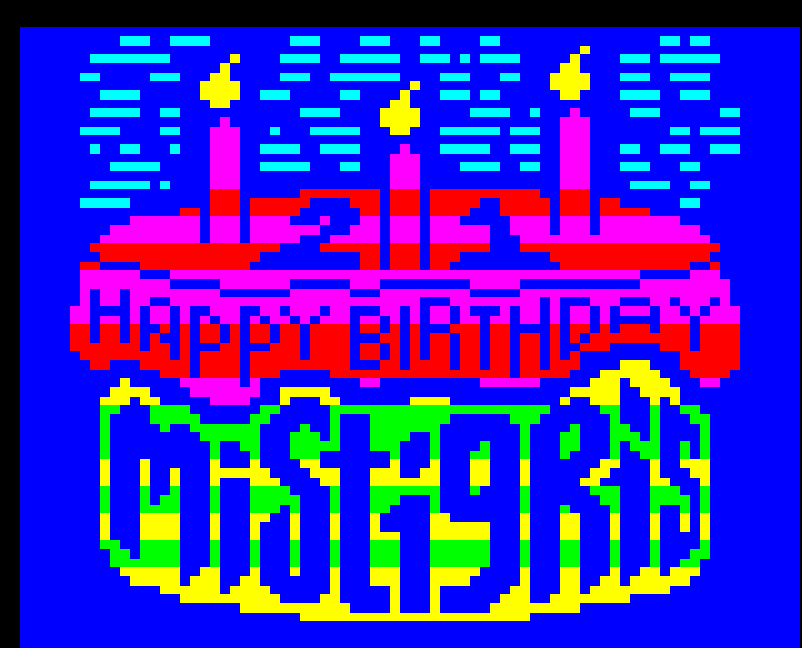 Mistigris 21st Anniversary Artpack - cake