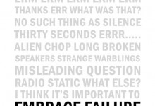 Sonic art // Embrace Failure // Experimental soundworks