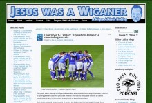 Website design // Jesus Was a Wiganer // Non-commercial football weblog