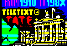 Pages from TateText // Collaborative teletext art